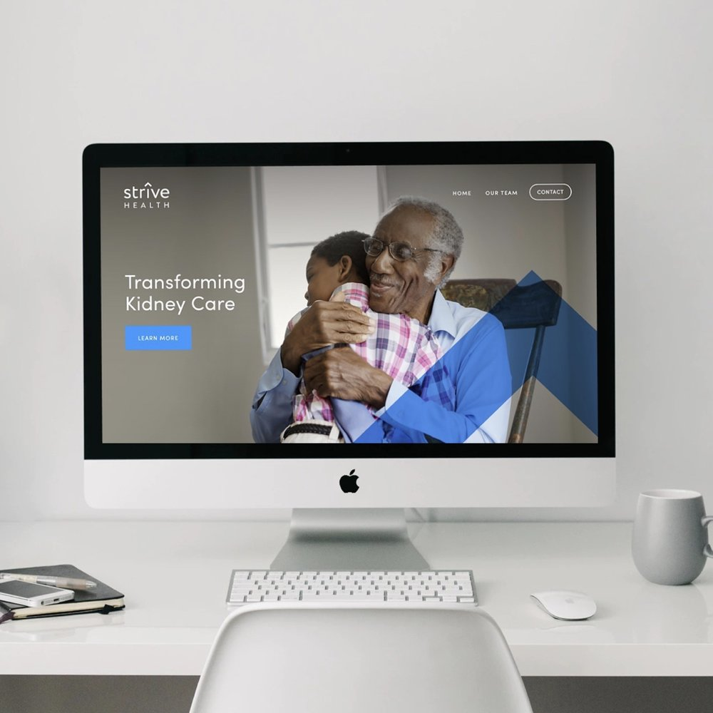 STRIVE HEALTH  —  Branding, Web, Presentation