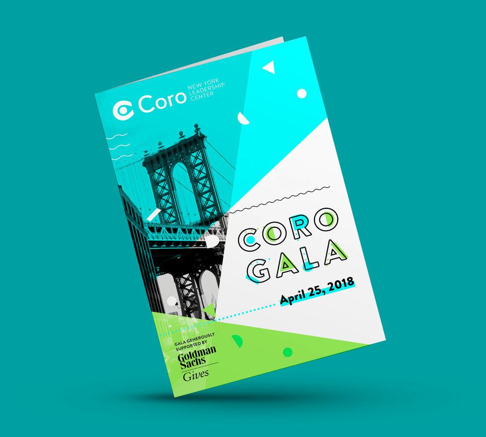 CORO GALA  —  Event   Branding, Print, Presentation