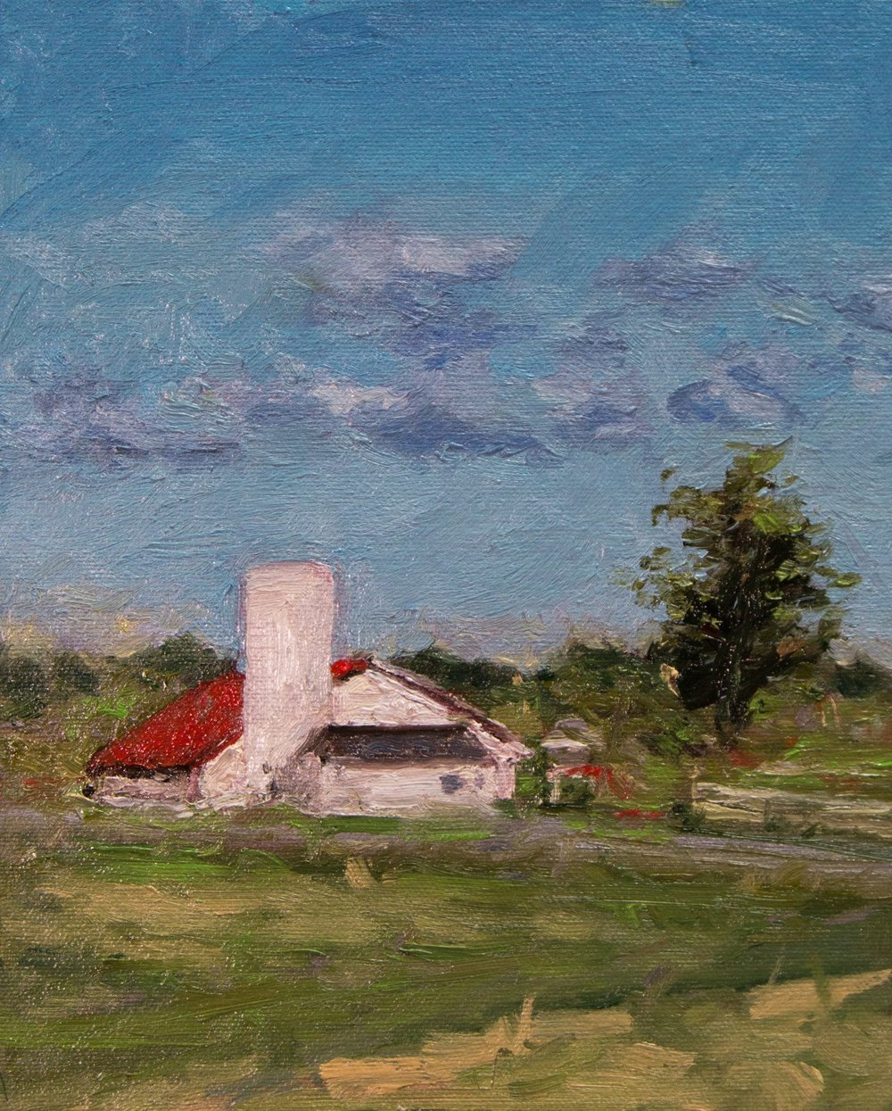 Across from Bakery in Sonoma Oil on Panel.