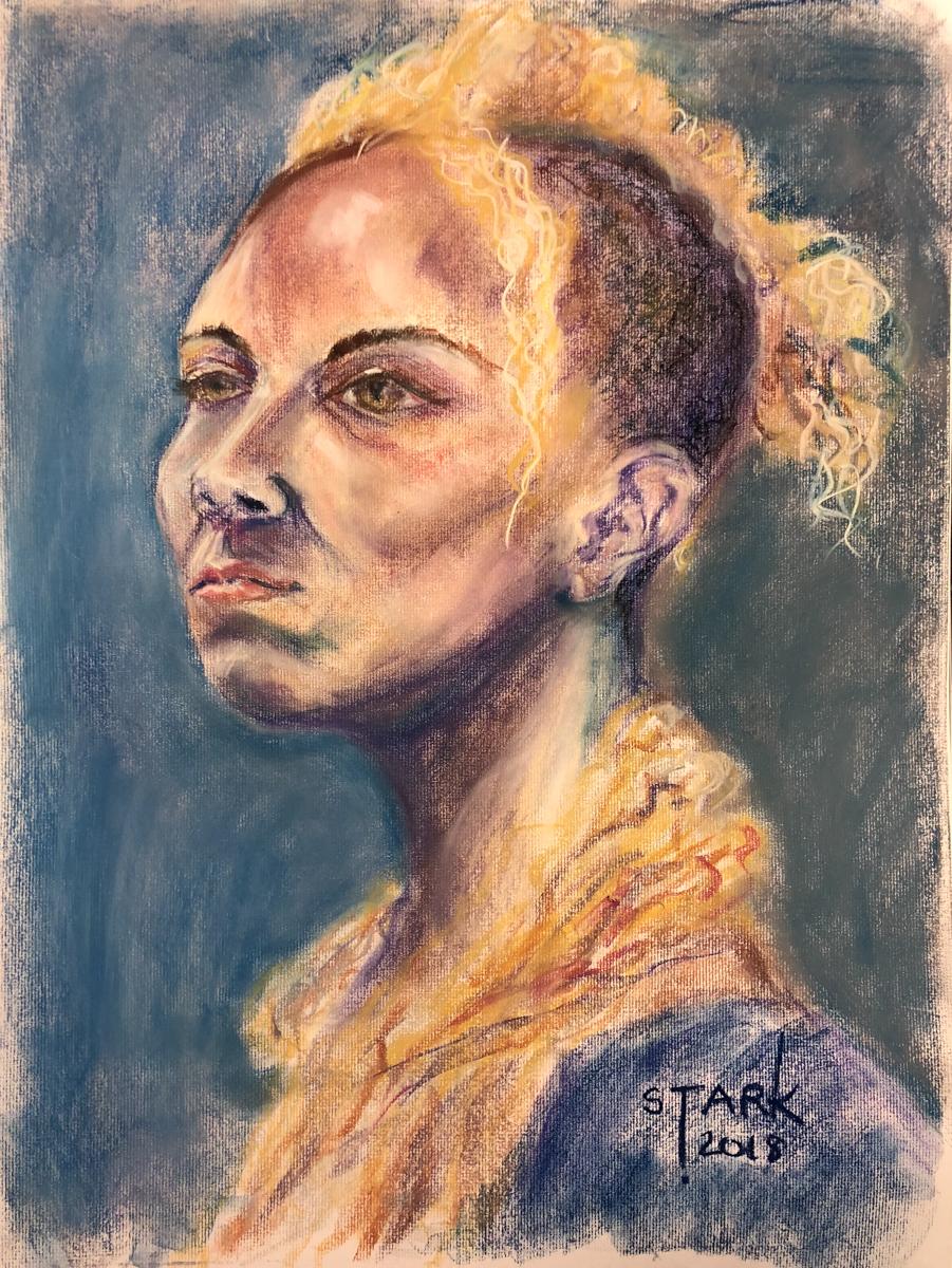 Amadia (Pastel on Paper)