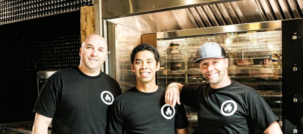 Dani Braun,  Chef Edgar Gutierrez, and Chris Sills, Rostizado, Mercer Warehouse