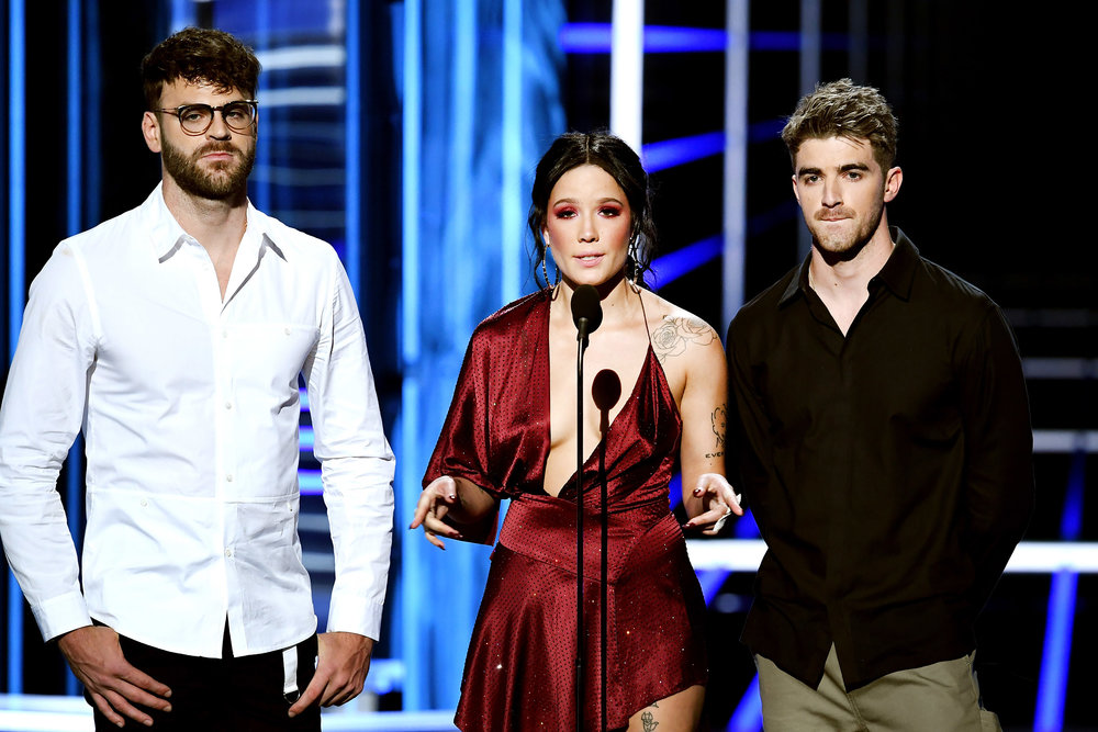 The Chainsmokers,  Alex Pall, Halsey and Andrew Taggart