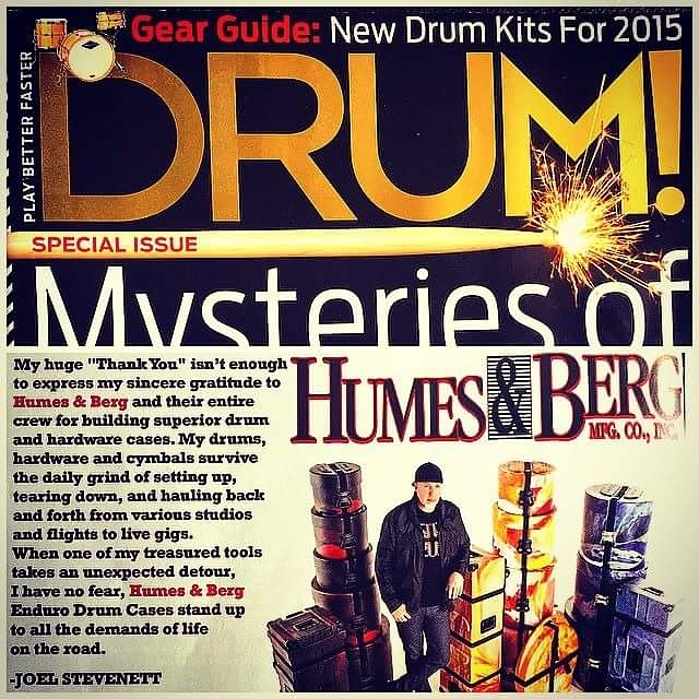 Joel Stevenett has been featured in DRUM Magazine and Modern Drummer
