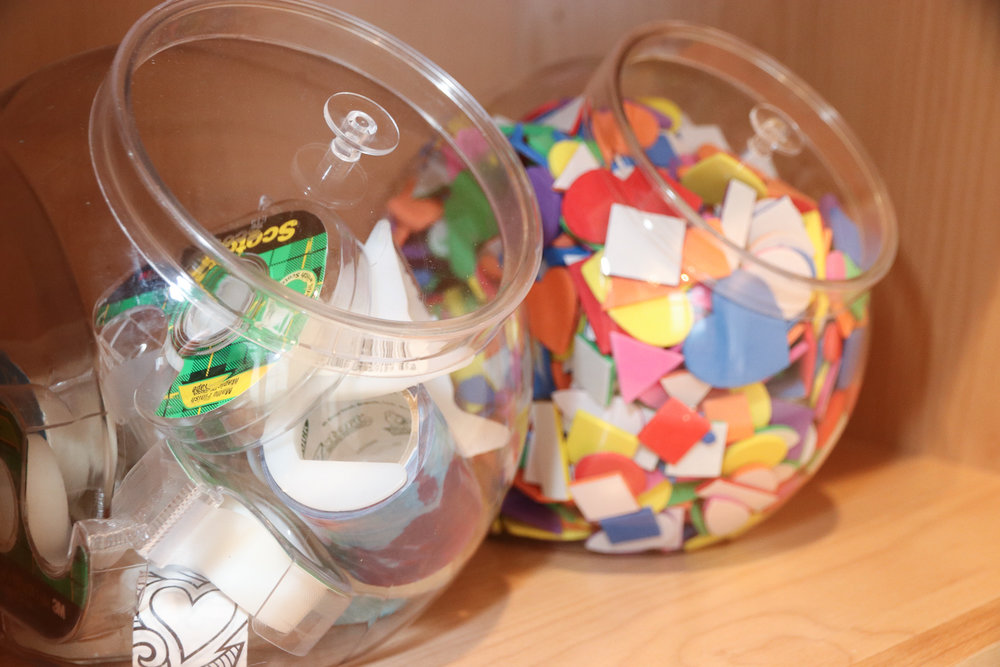 """Candy Jars"" are great for storage too!"