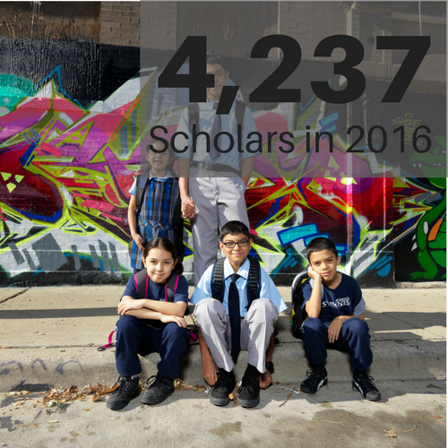 Big Shoulders Fund is the largest scholarship program in Chicago serving over 50,000 scholars over 10 years.