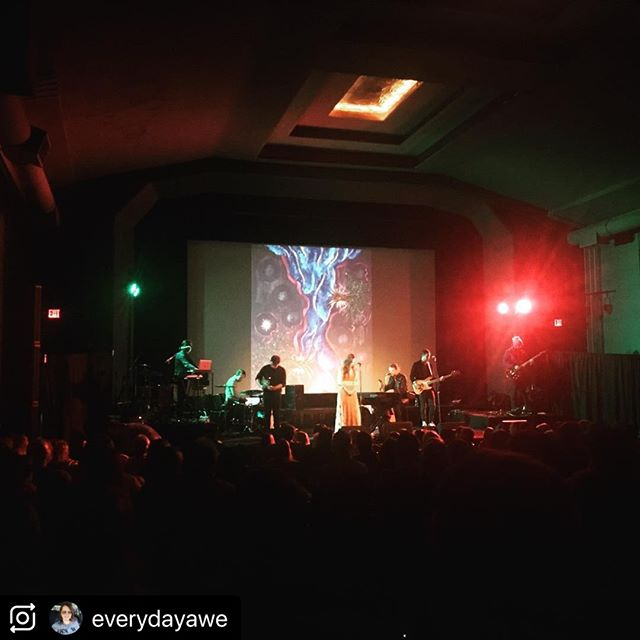 """Thank you @everydayawe !! You and all of our artists helped to make the night SO AMAZING!  More fun to come :). (@make_repost) @theparkwaympls @dgsviolin ・・・ Last night I was chatting with the lovely @trishkak. """"I didn't know you were an artist,"""" she said. """"Well,"""" I responded. """"I've been kind of a closet artist. I guess I'm not anymore!"""" Her response was perfect. """"That sounds right. Isn't that what Steve does? Brings people out from hiding to share their gifts?""""   What a great description of what last night was. @seniahevets and @heidihaines brought beautiful music. But it wasn't just about them. It was about all those they brought along. The band. The artists. The friends.   It was truly Tov- the life that brings life that brings life. It was not about a single song or even the album. It was about the seeds that are bringing more life already.  Congratulations @thetovmusic . There is more hope and beauty in the world because of what you have done. Can't wait to see how the life keeps going.  (P.S. That's my art piece. Projected on a big screen. Something I never could have imagined even just a few years ago... And now I even have an artist Instagram account @meditativebrushstrokes. What an adventure.) #artistsofinstagram #minneapolismusic #tov #art"""