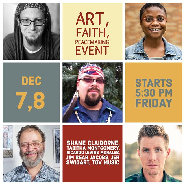 Join us the evening of Friday Dec. 7th and all day Saturday December 8th for an Art, Faith, and Peacemaking Event! (Tickets available on our website, link in bio.) Engage with artists and peacemakers in a diverse conversation. Join local and national artists and peacemaking practitioners, as we explore how peacemaking in the world moves us from having a nice thought into living a transformed day.  Learn from practitioners and advocates who believe that we were all made to be creative. Hear from filmmakers and painters who believe that creativity is the only viable option to violence. Engage with songwriters and authors who believe that creativity makes something new and meaningful where there was once only pain and violence. . .. ... .... ..... #minneapolismusic #minneapolis #peace #love #faith #peacemaking #newmusic #bands #newband #music #musicians #musicians #artandfaith #subscribe #faithandart #spirituality #musicforall #musicforthesoul #seetheunseen #twincitiesevents #create #creativity #creativeminds #spiritualjourney #inclusivity #inclusion #honesty