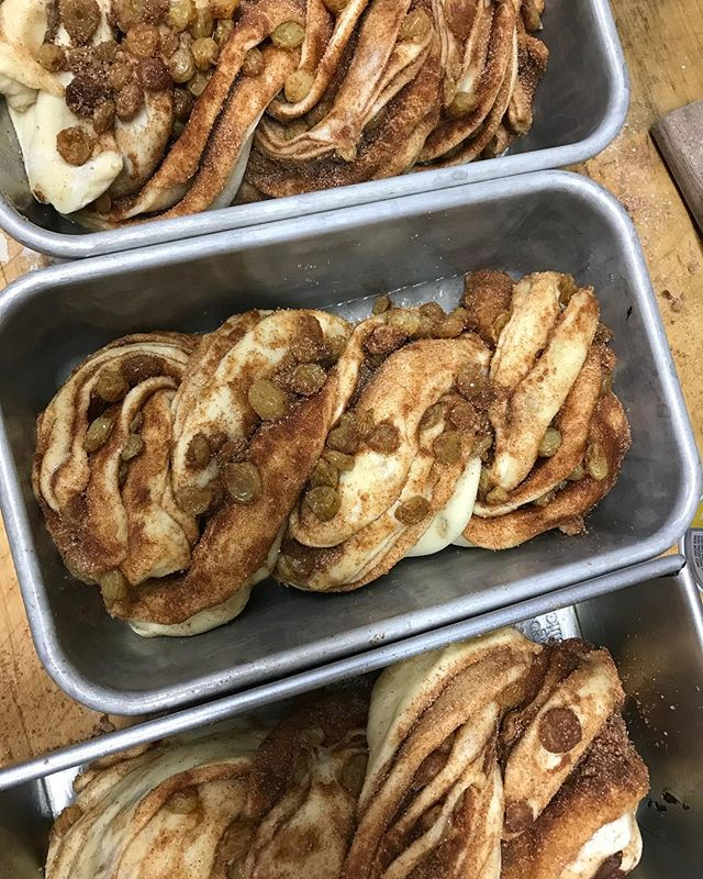 We're back to TWO Babka flavors this week: our gooey cinnamon and rum raisin and our signature @theochocolate and tahini. Come grab a slice at either So Bazaar in Redmond tomorrow evening or @slumarket this Saturday!