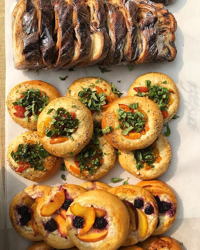 We've got a bunch of Summer favorites lined up for @slumarket tomorrow! Come stop by between 11 and 4. #vatrushka #piroshki #babka