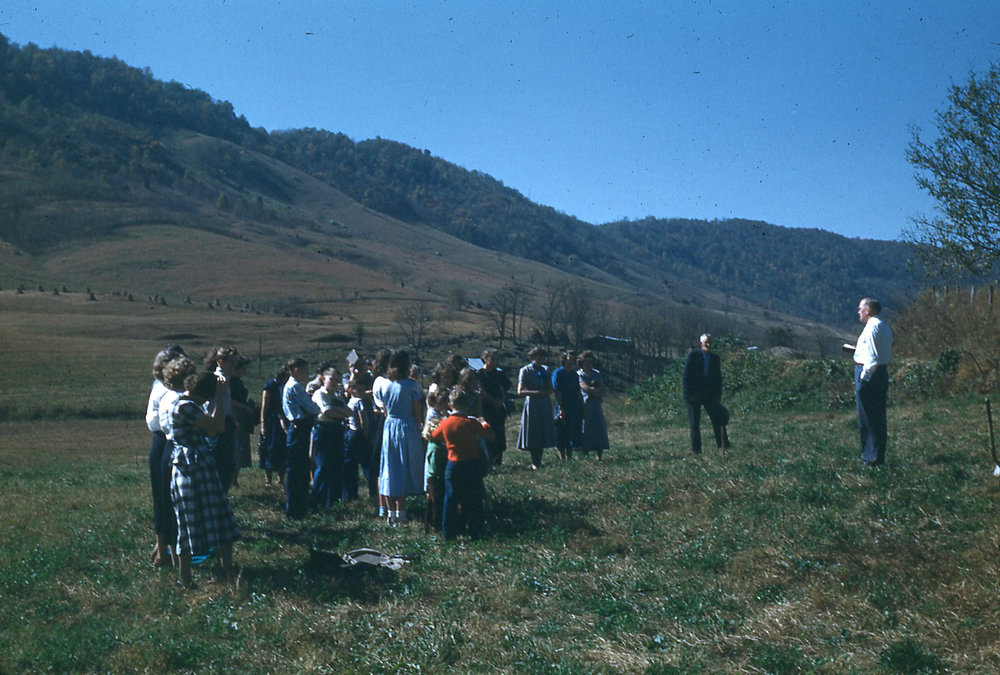 Groundbreaking for Larimer Chapel (1950) -