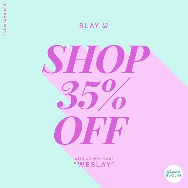 🚨 ISSA SALE: 35% OFF EVERYTHING🚨 - Yes, chile, EVERYTHING 🙌🏽 The #WomanEvolveShop will be closing soon, but don't worry. We will reopen after the conference! Head over now for your last chance to shop the latest. -- Use code: Weslay to save 35% -- Don't forget to show us how you style your WE Shop finds by tagging us and using the hashtag #WeStyleTheDay. . . . #WEslay #WEfit #WEshop #WEStyleTheDay #faith #fun #fashion