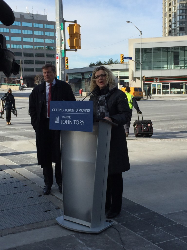 As Chair of Public Works, I was pleased to announce Phase 2 of the city's Congestion Management Plan with Mayor Tory.