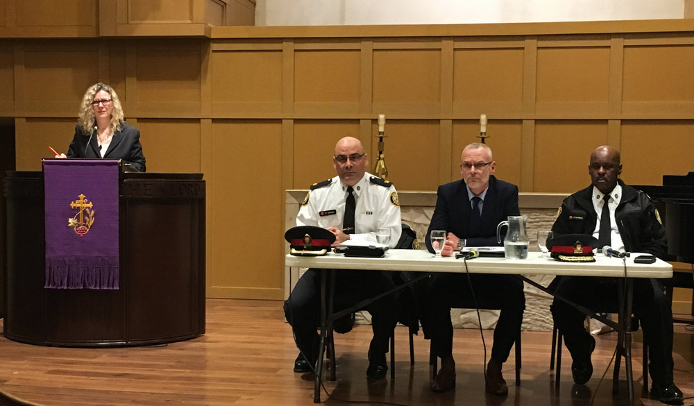 I was pleased to host a community safety meeting with Toronto Police officials, including Chief Saunders, to discuss local policing initiatives with Ward 25 residents.