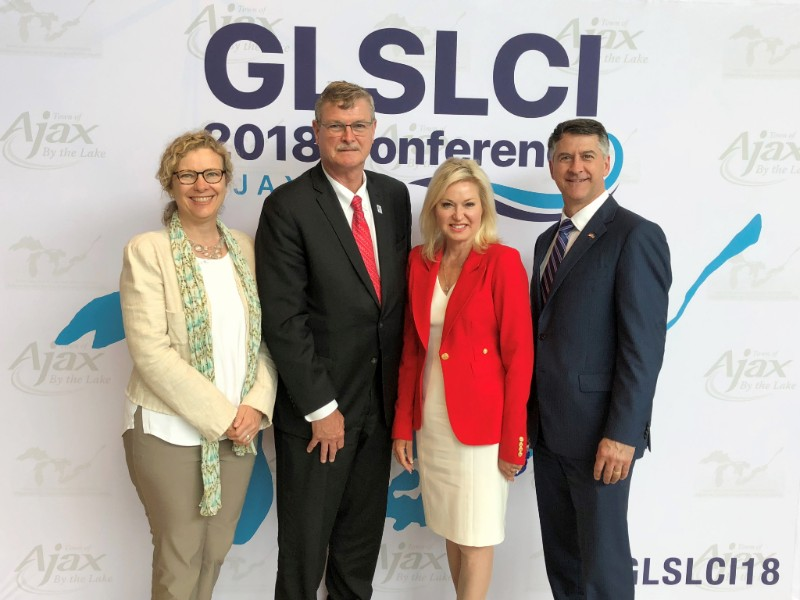 As the Mayor's designate to the Great Lakes and St. Lawrence Cities Initiative (GLSLCI),  I met with municipal leaders from across North America at the Annual Conference in June, including (from left to right) Mayor Paul Dyster of Niagara Falls, NY, Mayor Bonnie Crombie of Mississauga, and GLSLCI President John Dickert, former Mayor of Racine, WI.
