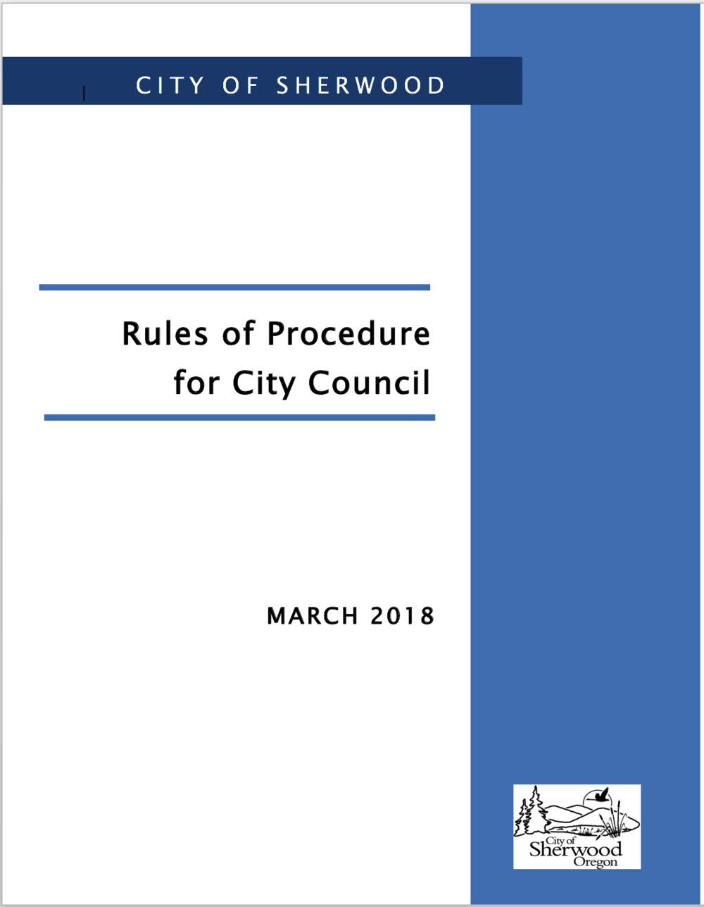 Click Here to read New Council Rules