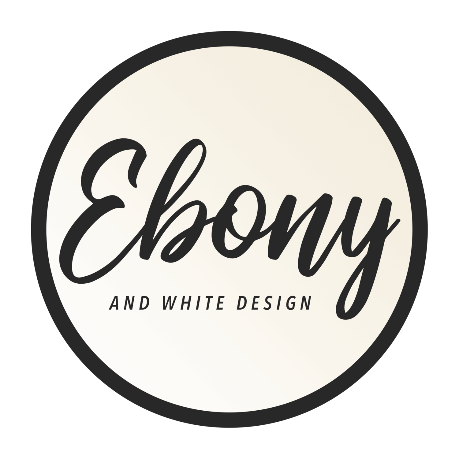 Ebony and White Design