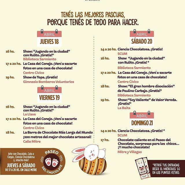 Necesitabas una excusa para venir a #Bariloche en estas Pascuas?? Acá te dejamos el calendario de actividades de la Fiesta del Chocolate.  Los esperamos en hostel Achalay! www.hostelachalay.com #achalayesfamilia #hostelachalay #hostel  #pascuas #fiestadelchocolate #chocolate