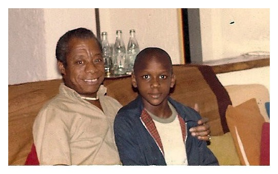 James Baldwin with nephew, Tejan Karefa-Smart