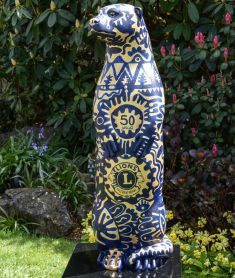 Otter Number 5 Created and Decorated by Georgina Ellis for The Lions Club of Farnham and Sponsored by  The Lions Club of Farnham