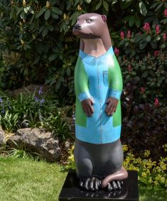 Otter Number 10 Created and Decorated by Carter Harvey, Panther Class,  Potters Gate School  and  Sponsored by  South Street Trust