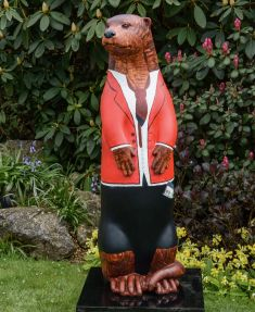 Otter  no 14 -  Created and Decorated by Oliver Barnes & Rosie Chaplin, for the Farnham Herald and Sponsored by  The Farnham Herald