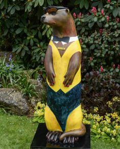 Otter Number 19 Created and Decorated by  Bob Milton  for the  Macular Society  and  Sponsored by  South Street Trust