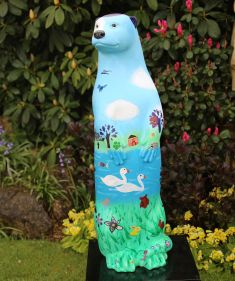 Otter Number 26 Created and Decorated by Pupils of  William Cobbett Primary School  and  Sponsored by  South Street Trust