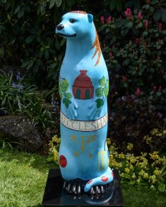 Otter Number 28 Created and Decorated by Elizabeth Bagnall &  St Peter's Church Community  Groups and  Sponsored by  South Street Trust