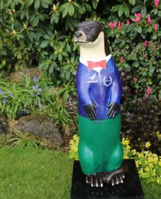 Otter Number 37 Created and Decorated by  Barfield School  Art Department and  Sponsored by  Hawthorns
