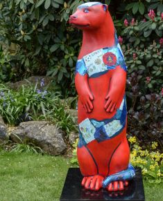 Otter Number 38 Created and Decorated by  Graham Mollart  & the children of  St. Polycarp's School  and  Sponsored by  Farnham Round Table