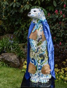 Otter Number 44 Created and Decorated by  St. Joan's Youth Club  &  Jo Aylwin  and  Sponsored by  South Street Trust