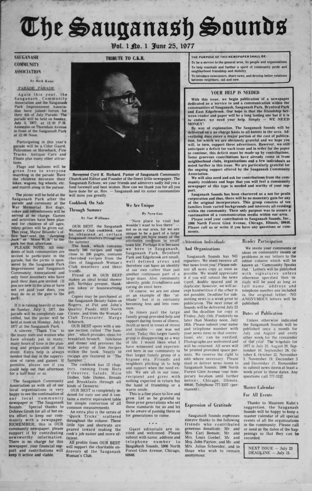 First issue in 1977
