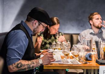 Heartland Spirits Fest Competition judges taste corn-based spirits at the competition held in Chicago in May.