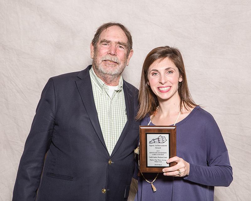 Supervisor Award - Camille Lambert, Henderson Co. Extension, White Corn Division.