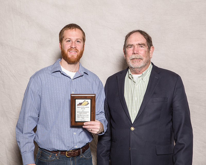 Supervisor Award - Tyler Miller, Daviess Co. Extension, Tillage Division