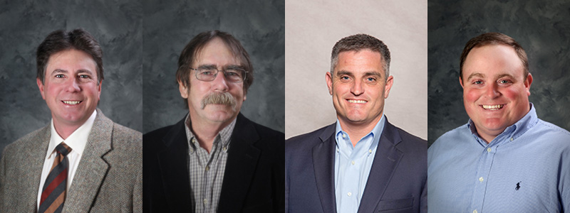 2018 KyCorn Officers: Mark Roberts, Richard Preston, Joseph Sisk, and Dustin White.