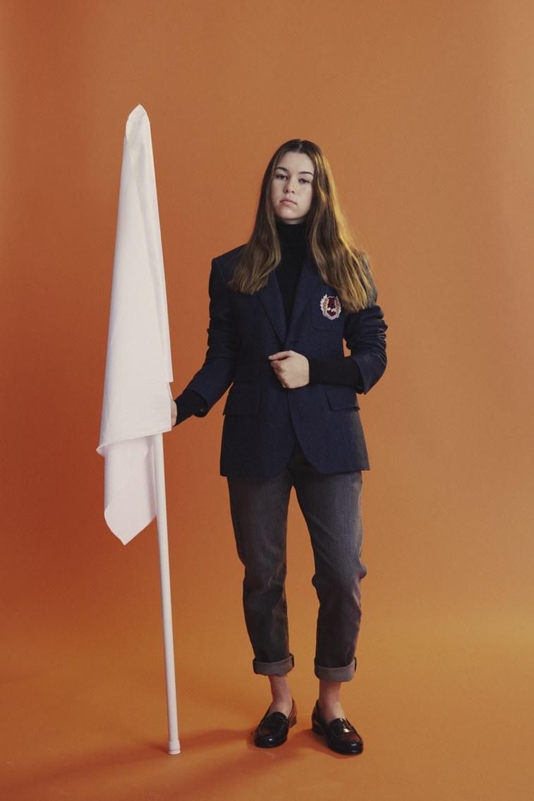 Sarah in her Teen Vogue photoshoot that includes many teen activists for gun violence. (Source:Tyler Mitchell - Teen Vogue)  https://www.teenvogue.com/gallery/meet-gun-control-cover-stars
