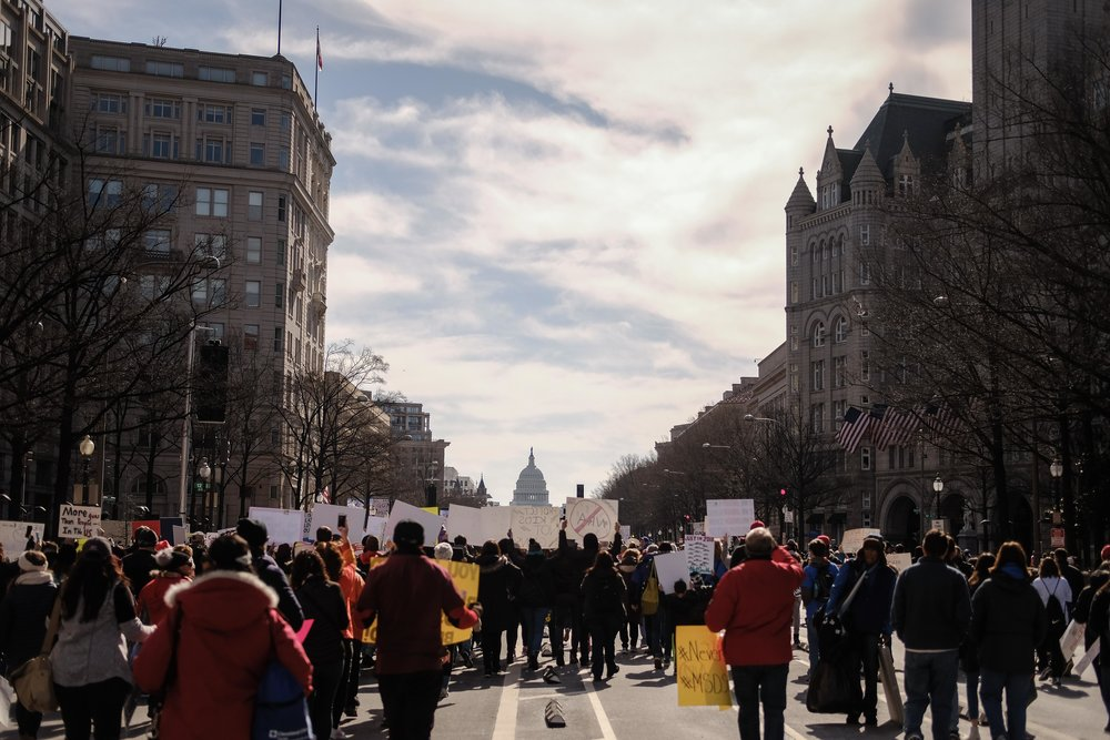 Taken at the march in D.C. (Source: Melody Ball)