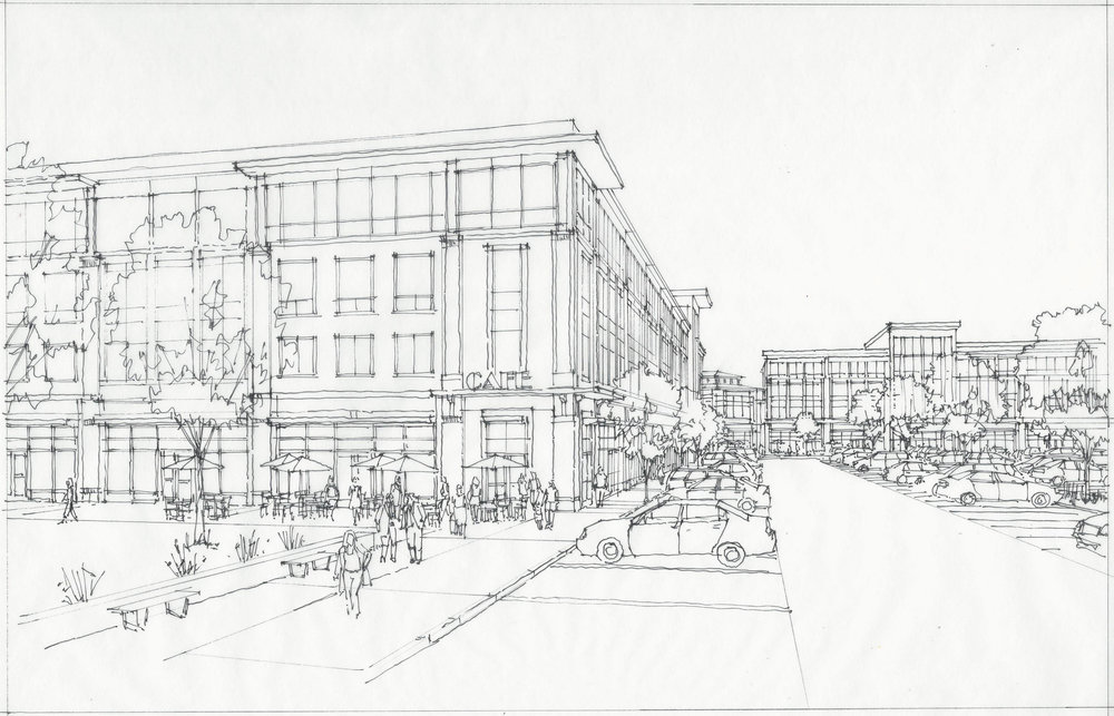 Dascomb Road Hard-Line Rendering