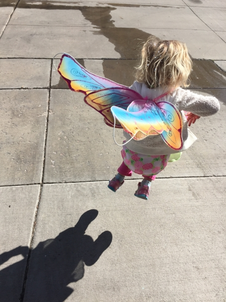 Age 4, living her magic