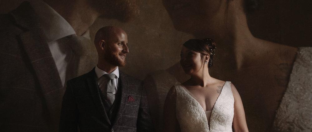 French-Irish moody wedding - Château de Marsales - DordogneEmma & Mark