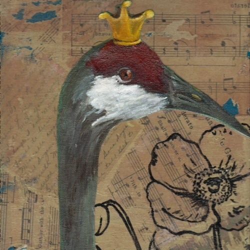 """King Fisher"" Mixed Media Collage"