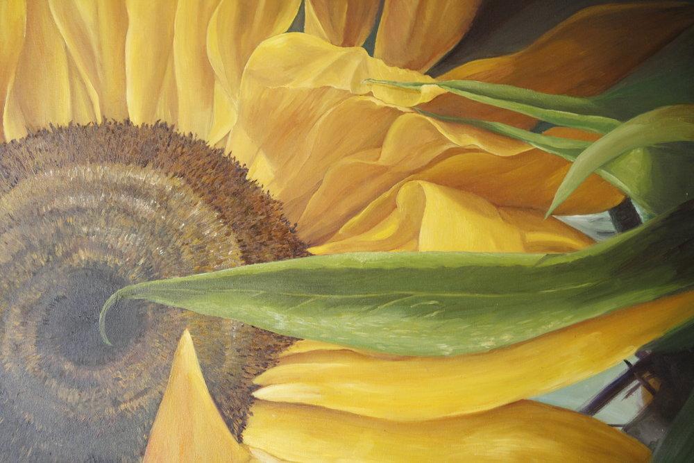 """Sunflower"" Oil on Canvas"