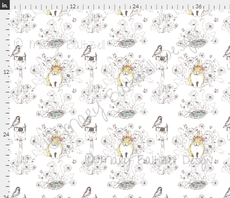 Bunny in the Garden Fabric