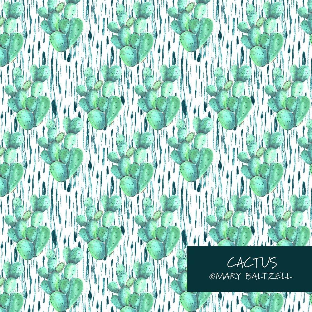 Cactus Repeat Pattern