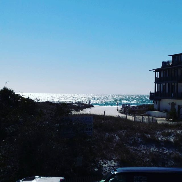 Lunch is better with the waves crashing #ezpzrecycling #chiringos #zoogallery #greytonbeach #30a #sowal