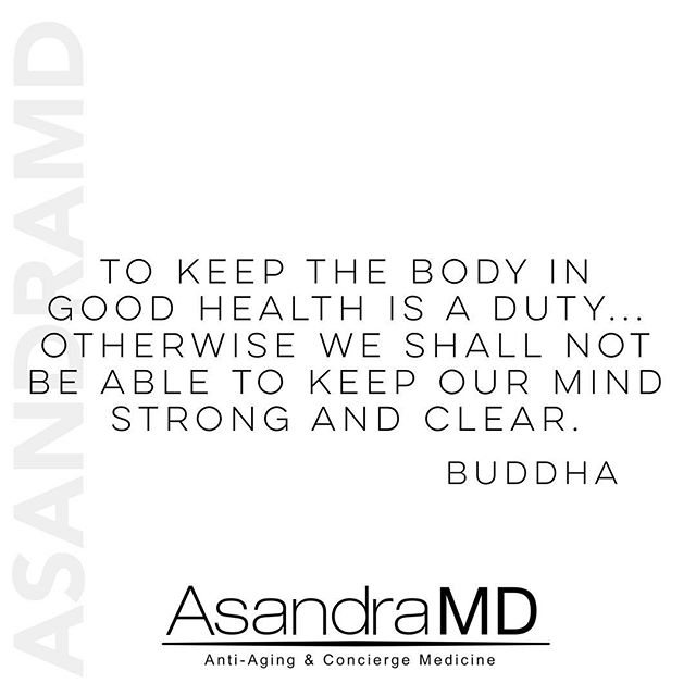 It is all connected...mind, body, and soul. Bio-Identical Hormone Replacement can and will change your life, but there is no substitution for eating clean, drinking plenty of water, exercising, and finding your own way to decompress. Your body is your temple 🙏🏻 #asandramd