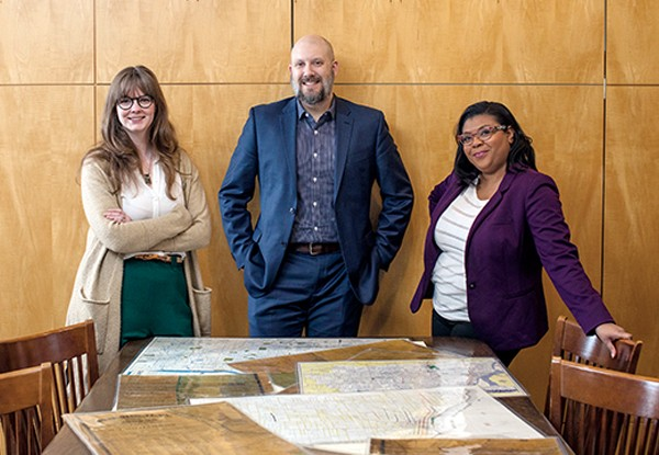 Meet the architects of Memphis 3.0: (from l to r) Lauren Kennedy, John Paul Shaffer, and Ashley Cash are pooling city resources to design a plan for a better Memphis.