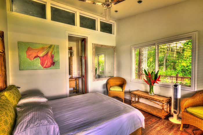 Write here… -  Ocean or Jungle View Club Room with Double Occupancy -                                                                      $1700 per personchic, modern rooms with lofted ceilings, marble bathrooms and in-house designed sustainable bamboo furnishings
