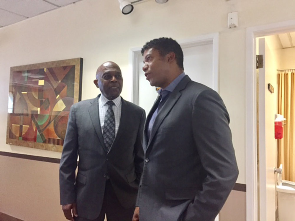 CNHF President & CEO, Dr. Bassett H. Brown (left) and Dr. Zuri Murrell (right).